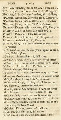 TheGlasgowStory: PO Dir 1811, McA-McC