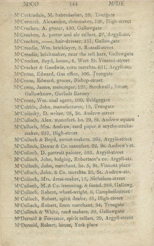 TheGlasgowStory: PO Dir 1820, McC-McD