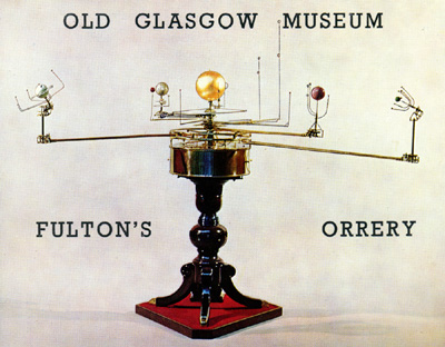 Keywords: astronomy, museums, Old Glasgow Museum, orreries