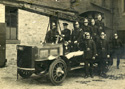 First motor fire engine