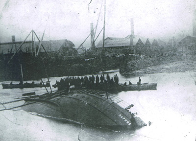 The Sinking of the SS Daphne, July 3rd 1883 (approximate location)