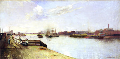 Clutha Ferry at Whiteinch, 1887