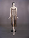 Gold and silver lame evening dress c 1924