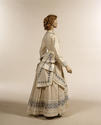 Embroidered dress c 1860s