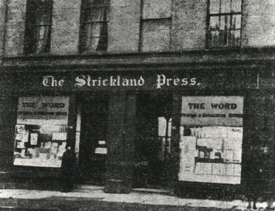 Keywords: anarchists, booksellers, bookshops, editors, libertarian socialists, newspapers, pacifism, pacifists, political activists, political pamphlets, printers, printing, publishers, publishing, Royal College of Science and Technology, socialism, socialists, Strickland Press, University of Strathclyde, Word