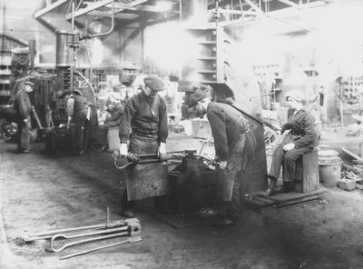 The Forge at Linthouse Shipyard, 1916