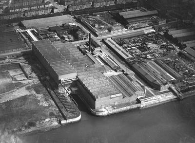 Keywords: aerial views, Albion Motors, Coventry Ordnance Works, diesel engines, Harland & Wolff, marine engineering works, marine engineers, River Clyde, shipbuilders